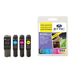 Jet Tec Brother Compatible LC1240BCMY (1x13.9ml, 3x7.1ml) Remanufactured Inkjet Cartridge (Multipack - Black, Cyan. Magenta, Yellow)