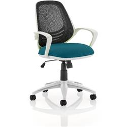 Atom Task Operator Kingfisher Colour Seat With Arms Ref KCUP0063