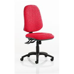 Eclipse XL Task Operator Chair Cherry Colour Without Arms Ref KCUP0241