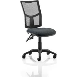Eclipse II Task Operator Chair With Black Mesh Back Charcoal Fabric Seat Without Arms Ref KC0170