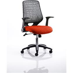 Relay Task Operator Chair Pimento Colour Silver Back With Arms Ref KCUP0516