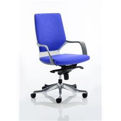 Xenon Executive Chair White Medium Marine Back Serene Colour With Arms Ref KCUP0611