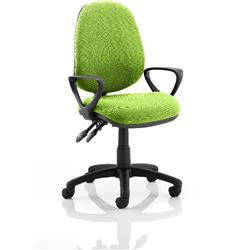 Luna II Lever Task Operator Chair Swizzle Colour With Loop Arms Ref KCUP0938