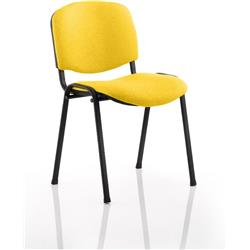 ISO Stacking Chair Sunset Colour Fabric Black Frame Without Arms Ref KCUP0309