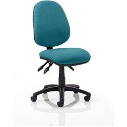 Luna III Lever Task Operator Chair Kingfisher Colour Without Arms Ref KCUP0359