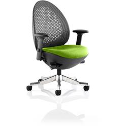 Revo Task Operator Chair Swizzle Colour Seat With Arms Ref KCUP0714