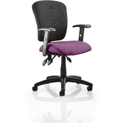 Toledo Task Operator Chair Purple Colour Seat With Arms Ref KCUP0592