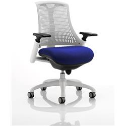 Flex Task Operator Chair White Back White Frame Serene Colour Seat With Arms Ref KCUP0731