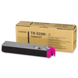 Kyocera TK-520M Magenta (Yield 4000 Pages) Toner Cartridge for FS-C5025N/5015N Printers