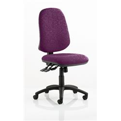 Eclipse XL Task Operator Chair Purple Colour Without Arms Ref KCUP0248