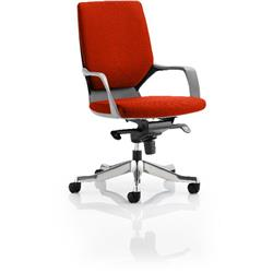 Xenon Executive Chair Black Medium Coral Back Pimento Colour With Arms Ref KCUP0628