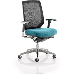 Midas Task Operator Chair Kingfisher Colour Seat With Arms Ref KCUP0415