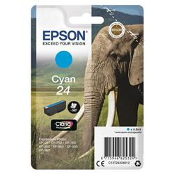 Epson 24 Inkjet Cartridge Capacity 4.6ml Page Life 360pp Cyan Ref T24224010