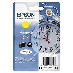 Epson WF3620 Alarm Clock Inkjet Cartridge Yellow Ref C13T27044010