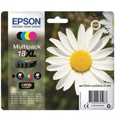 Epson 18XL Inkjet Cartridges High Capacity 31.3ml C/M/Y/K Ref C13T18164012 [Pack 4]