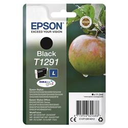 Epson T1291 Inkjet Cartridge DURABrite Apple L Capacity 11.2ml Black Ref C13T12914012
