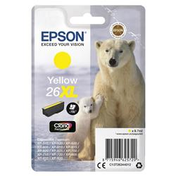 Epson 26XL Inkjet Cartridge Polar Bear Capacity 9.7ml 700pp Yellow Ref C13T26344012