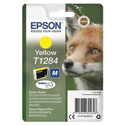 Epson T1284 Inkjet Cartridge DURABrite Fox Capacity 3.5ml Yellow Ref C13T12844012