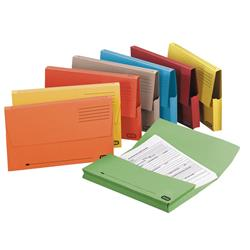 Elba Document Wallet Half Flap 285gsm Capacity 30mm A4 Assorted Ref 100091110 [Pack 50]