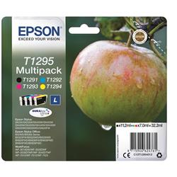 Epson T1295 Inkjet Cartridge Apple L Capacity 32.2ml C/M/Y/K Ref C13T12954012 [Pack 4]