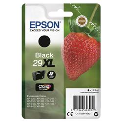 Epson No. 29XL InkJet Cartridge 450pp 11.3ml Black Ref C13T29914012