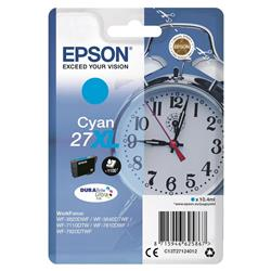 Epson 27XL Inkjet Cartridge Alarm Clock Capacity 10.4ml Cyan Ref C13T27124012