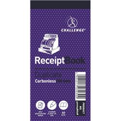 Challenge Duplicate Book Carbonless Receipt 50 Receipts 140x70mm Ref 400048628 [Pack 10]
