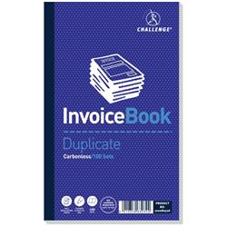 Challenge Duplicate Book Carbonless Invoice without VAT/tax 100 Sets 210x130mm Ref 100080526 - Pack 5