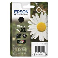 Epson 18XL Inkjet Cartridge Daisy High Capacity 11.5ml 470pp Black Ref C13T18114012