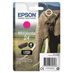 Epson 24 Inkjet Cartridge Capacity 4.6ml Page Life 360pp Magenta Ref T24234010