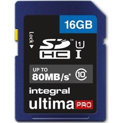 Integral Ultima Pro SDHC Media Memory Card Class 10 16GB Ref INSDH16G10-45