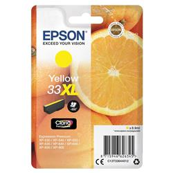 Epson T33XL Inkjet Cartridge Capacity 8.9ml Yellow Ref C13T33644012