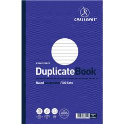 Challenge Duplicate Book Carbonless Ruled 100 Sets 297x195mm Ref 100080527 - Pack 3