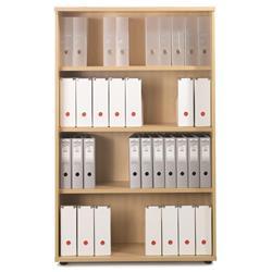 Sonix Bookcase Tall Three Shelves Rich Beech - w9873b - w9873b