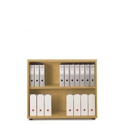 Sonix Bookcase Low One Shelf Natural Oak - w9875o - w9875o