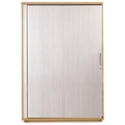 Sonix Tambour Door Cupboard Midi Rich Beech/Silver - w9869b - w9869b