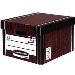 Bankers Box Premium Storage Box Classic FSC Woodgrain Ref 7250503 [Pack 12] [12 for the price of 10]