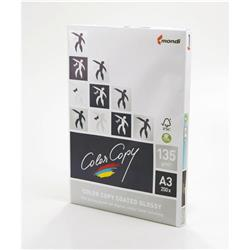 Color Copy Paper Coated Glossy White FSC4 A3 420 x 297mm 135gm Ref 24873 [Pack 250]
