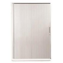 Sonix Tambour Door Cupboard Midi Polar White/Silver - w9869wh