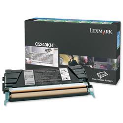 Lexmark Laser Toner Cartridge Return Program High Yield Page Life 8000pp Black Ref C5240KH