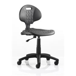 Malaga Task Wipe Clean Operator Chair Black Polyurethane Seat And Back Without Arms Ref OP000088
