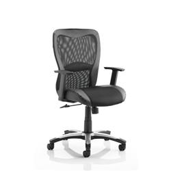 Victor II Executive Chair Black Leather Black Mesh With Arms Ref EX000075