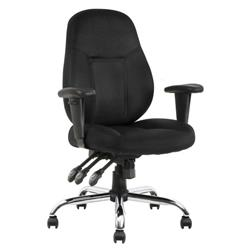 Storm Task Operator Chair Black Fabric With Arms Ref OP000127