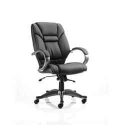 Galloway Executive Chair Black Leather With Arms Ref EX000134