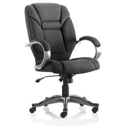 Galloway Executive Chair Black Fabric With Arms Ref EX000030