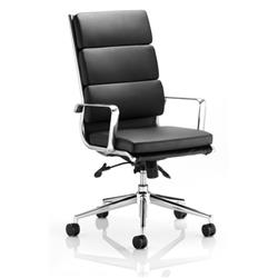 Savoy Executive Chair Black Bonded Leather High Back With Arms Ref EX000067