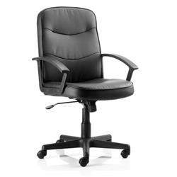 Harley Executive Chair Black Bonded Leather With Arms Ref EX000038