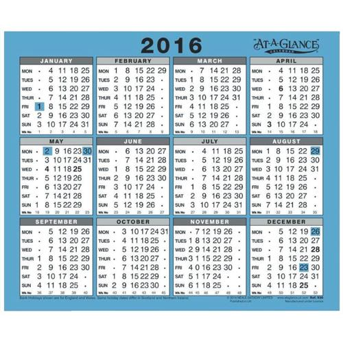 Year Calendar Buy : Buy at a glance desk or wall calendar one year to