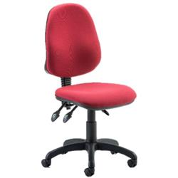 Eclipse III Lever Task Operator Chair Wine Fabric Without Arms Ref OP000037