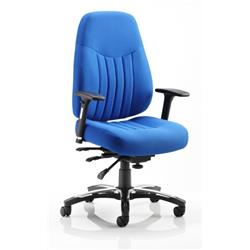 Barcelona Deluxe Task Operator Chair Blue Fabric Ref OP000004